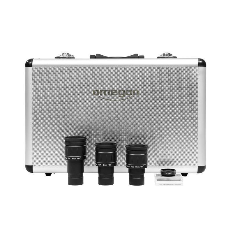 Okulárový set Omegon Cronus s mesačným filtrom